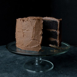One-Bowl Devil's Food Layer Cake With Milk Chocolate Frosting