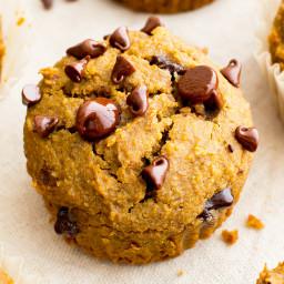 One Bowl Gluten Free Pumpkin Chocolate Chip Muffins (GF, Vegan, Dairy Free)