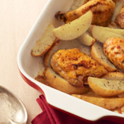 One-Pan Chicken and Potato Bake