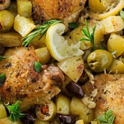 One-Pan Mediterranean Braised Chicken with Olives