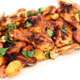 One Pan Roasted Chicken and Potatoes Recipe