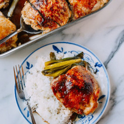 One-Pan Roasted Oyster Sauce Chicken and Scallions