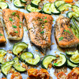 One Pan Salmon and Veggies