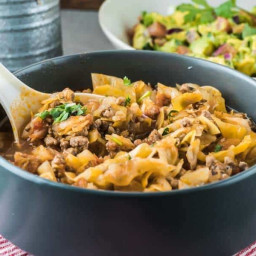 One Pot Amish Beef and Cabbage Skillet