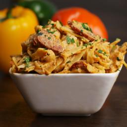 One-pot Cajun Fettuccine Alfredo Pasta Recipe by Tasty