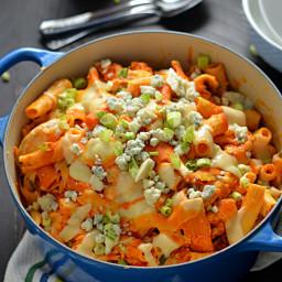 One Pot Cheesy Buffalo Chicken Pasta