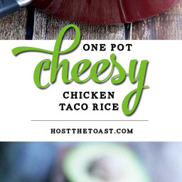 One Pot Cheesy Chicken Taco Rice