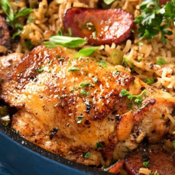 One Pot Chicken and Dirty Rice