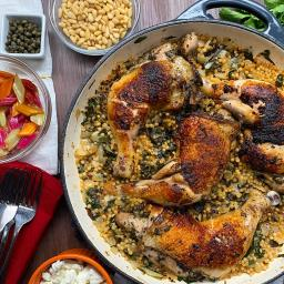 One-Pot Chicken, Chard, And Couscous Dinner Recipe by Tasty