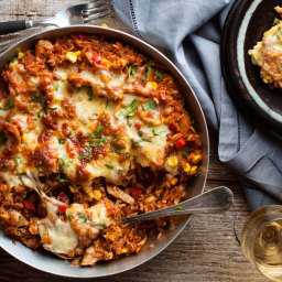 One Pot Chicken Enchilada Rice Casserole