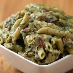 One-Pot Chicken Spinach Bacon Alfredo Recipe by Tasty