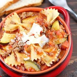 One Pot Easy Lasagna Soup