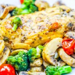 One Pot Italian Chicken and Veggies Skillet