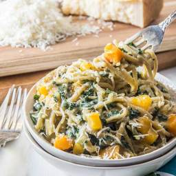 One Pot Pasta: Squash and Kale