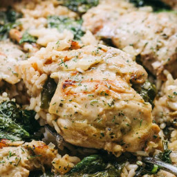 One Pot Ranch Chicken and Rice