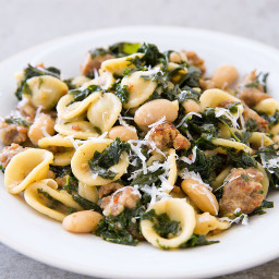 One-Pot Sausage, Kale, and White Bean Pasta