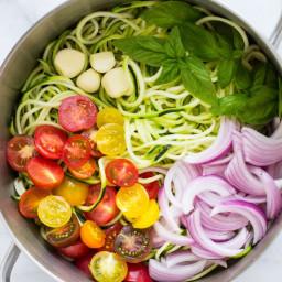 One Pot Zucchini Pasta