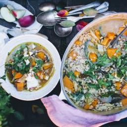 One-PotPumpkin, Cabbage & Rice Stew