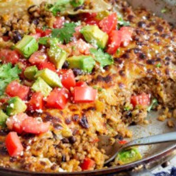 One Skillet Cheesy Mexican Casserole