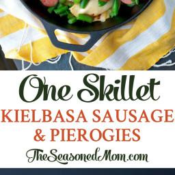 One Skillet Kielbasa Sausage and Pierogies
