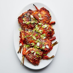 One-Skillet Roasted Sesame Chicken Thighs