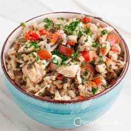 One Pot Thai Chicken and Rice Dish