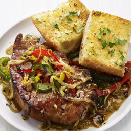 Onion-and-Pepper Pork Chops