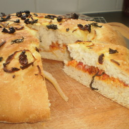 ONION AND TOMATO SCHIACCIATA
