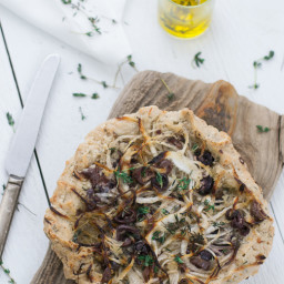 Onion, Black Olive and Thyme Tart