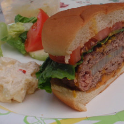 Onion Stuffed Hamburgers