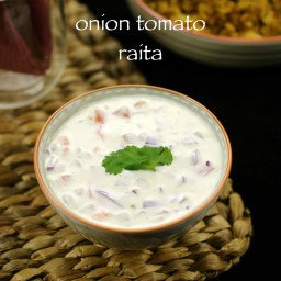 onion tomato raita recipe | tomato onion raita recipe