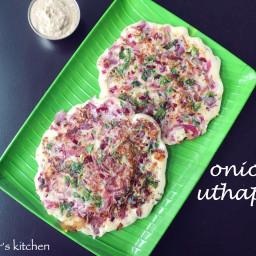 onion uttapam recipe | onion uttapa recipe