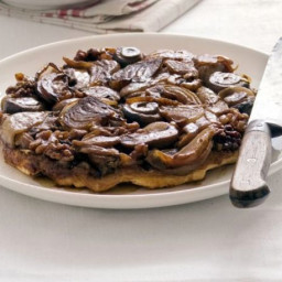Onion, walnut and mushroom tarte tatin