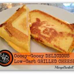 Ooey-Gooey Delicious Low Carb Grilled Cheese