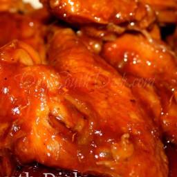 Oooey Gooey Crockpot BBQ Chicken Wings