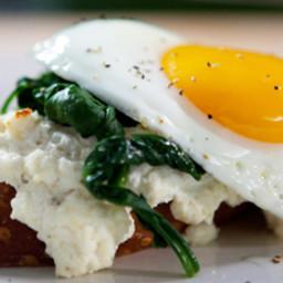Open-Faced Eggs Florentine