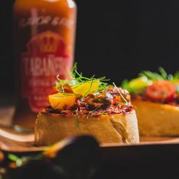 Open-Faced Mussel Sandwich
