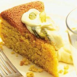 Orange and almond cake with citrus mascarpone