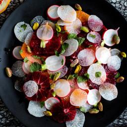 Orange and Radish Salad With Pistachios