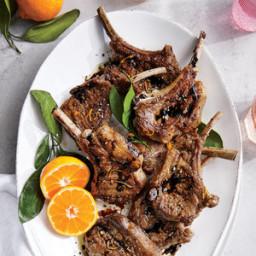 Orange-Balsamic Lamb Chops