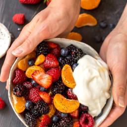 Orange Berry Fruit Salad with Poppy Seed Dressing