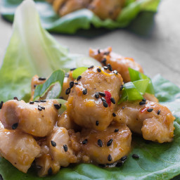 Orange Chicken Lettuce Cups