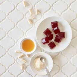 Orange-Cranberry Collagen Gelatin Squares