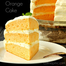Orange Cream Cake with Cool Whip Pudding Frosting