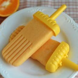 Orange Creamsicle Popsicles