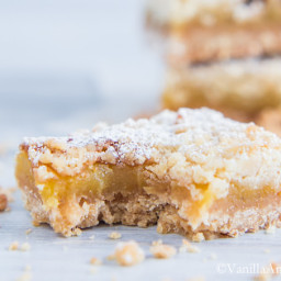 Orange Crumble Tart with Vanilla Bean