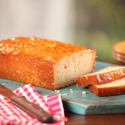 Orange French Yogurt Cake with Marmalade Glaze
