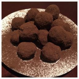 Orange Ginger Dark Chocolate Truffles
