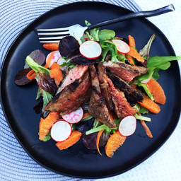 Orange, Ginger & Miso Marinated Wagyu Rib Lifter Salad