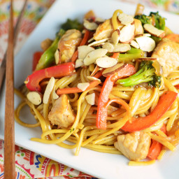 Orange-Ginger Pork Lo Mein